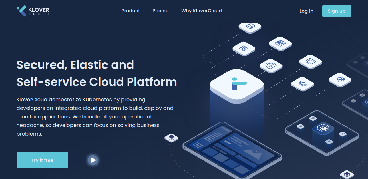 Klover Cloud home page
